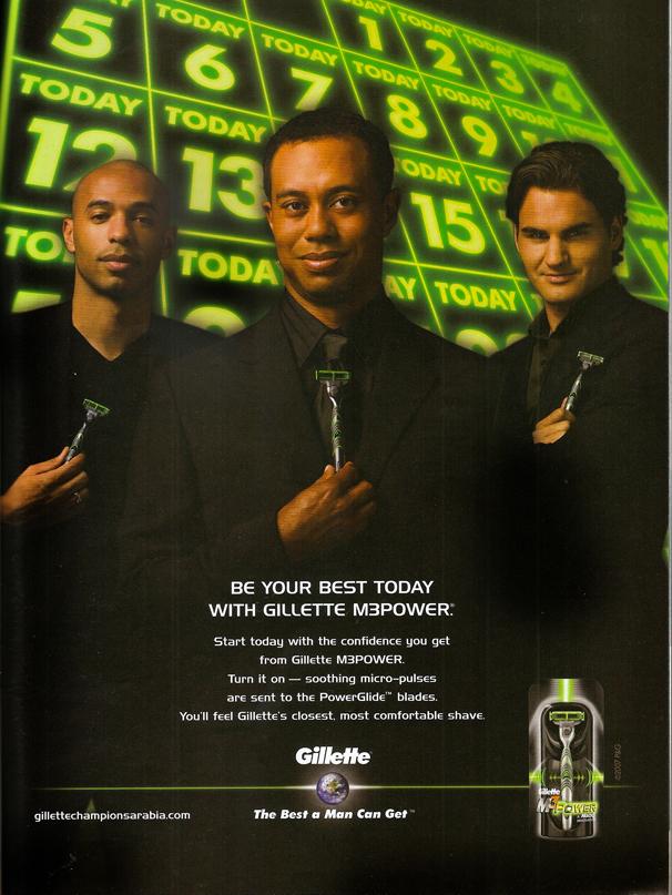 Gillette Magazine Ad
