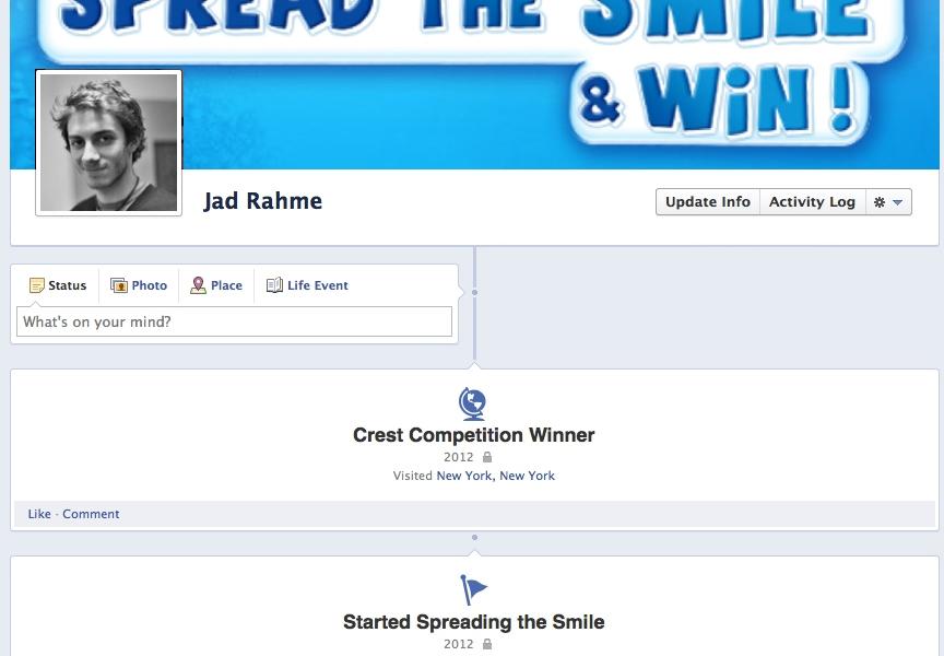 Crest Arabia Facebook Competition