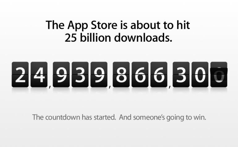 Apple Countdown - 25th Billion App Store Download
