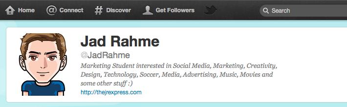 Twitter Profile Jad Rahme