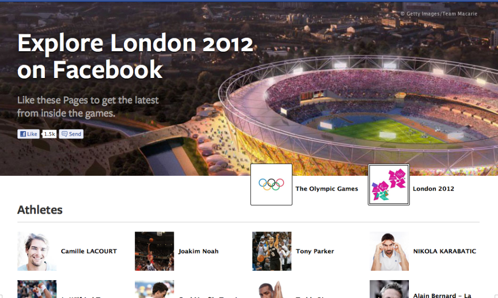 Facebook Olympics Page