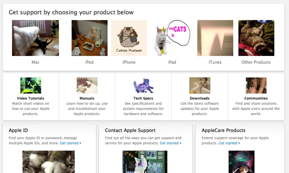Apple Website Hacked Screenshot