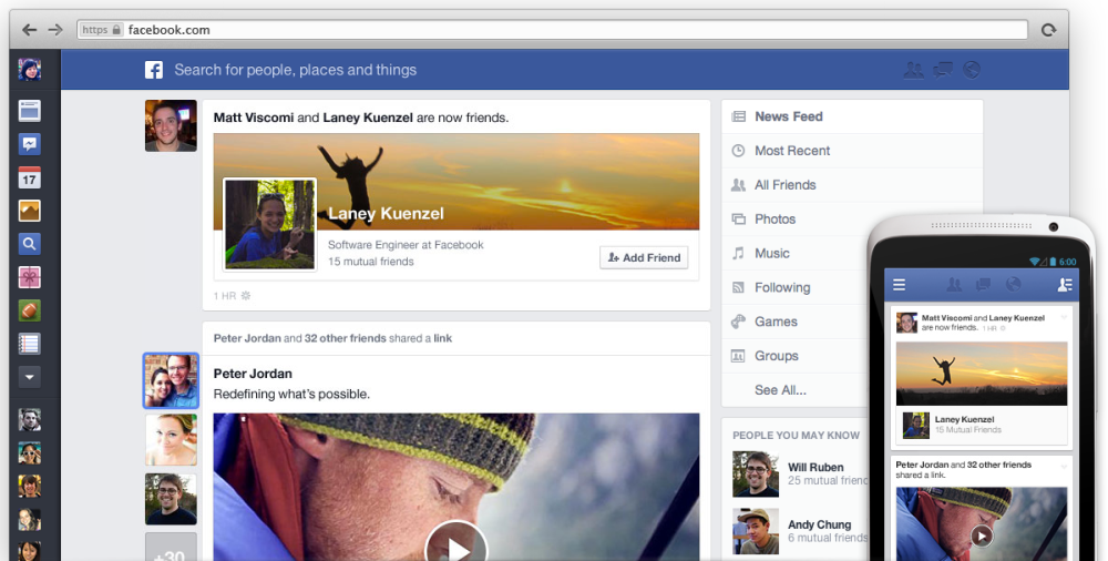 Facebook NewsFeed New Look