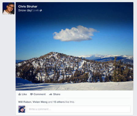 Facebook NewsFeed New Look 2