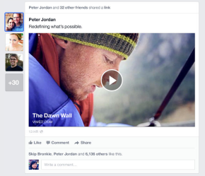 Facebook NewsFeed New Look 3
