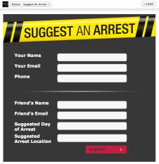 Suggest An Arrest Facebook