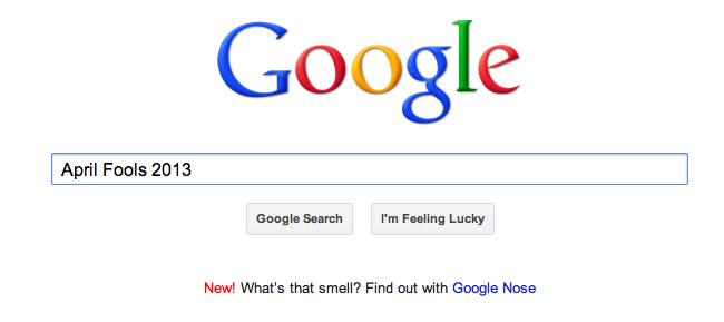 Google April Fools 2013