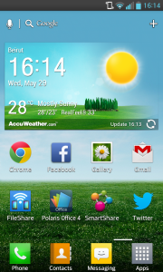 LG Optimus G Home Screen