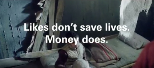 Unicef Likes Don't Save Lives