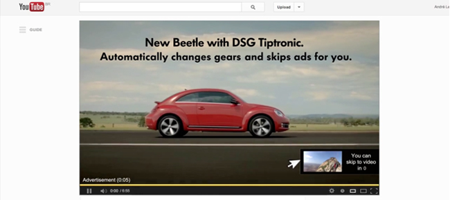 VW YouTube Ad