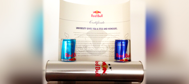 Red Bull AUB Graduation Gift Feature