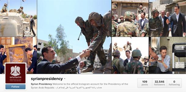 Bashar Assad Instagram