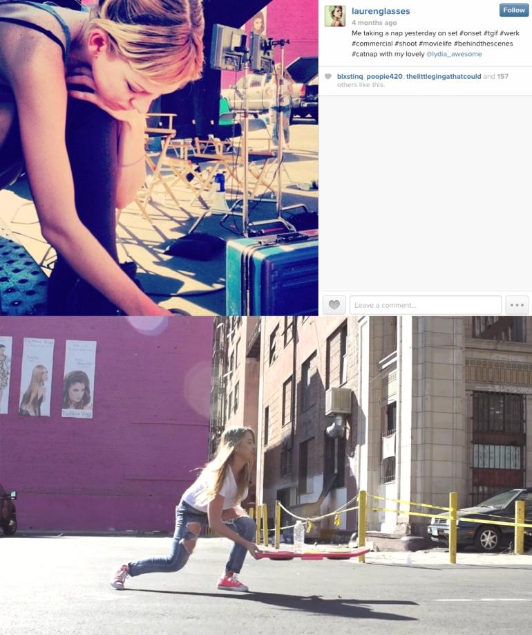 Lauren Biedenharn's Instagram - Funny Or Die HUVr Hoverboard