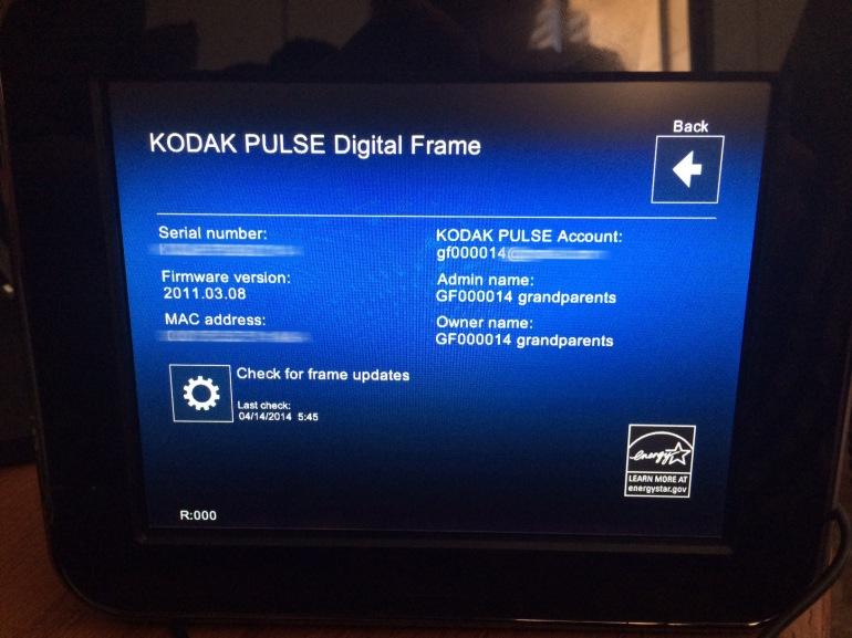 Kodak Frame GF