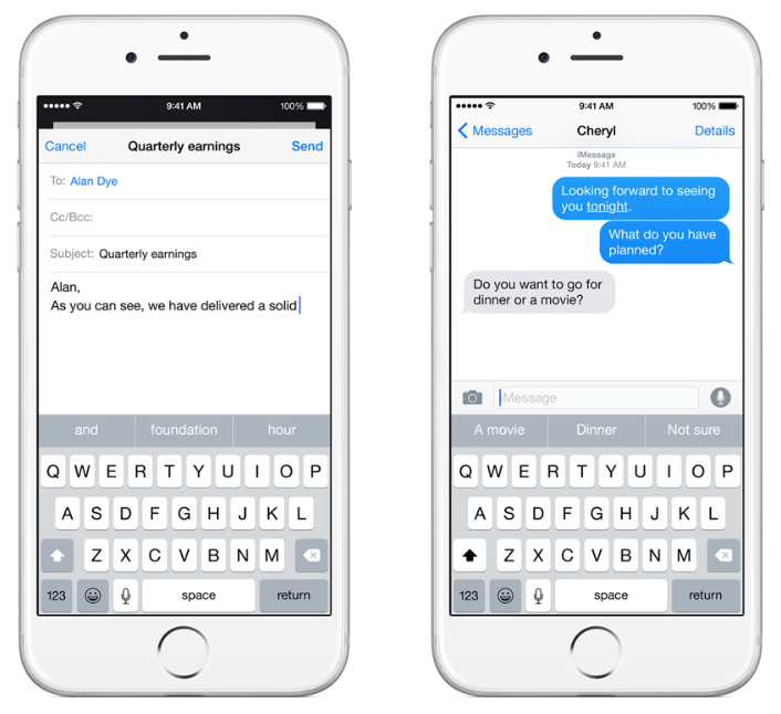 iOS 8 Keyboard Quicktype