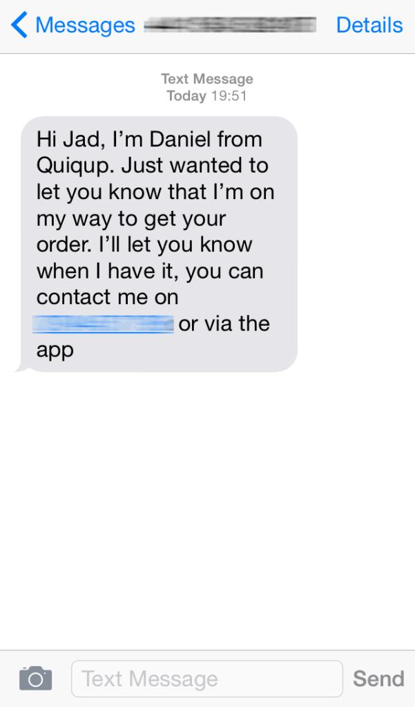 Quiqup Quiqie Contact