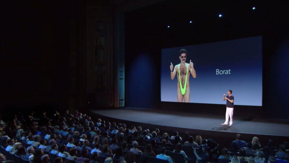 Sacha Baron Cohen Apple Parody